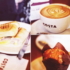 Costa Coffee breakfast Singapore