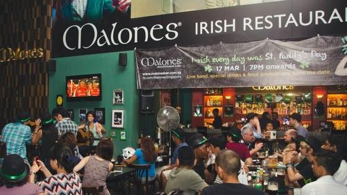 Malones Irish restaurant & bar 313@Somerset Singapore