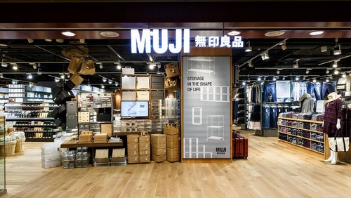 Muji department store Paragon mall in Singapore.