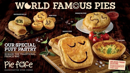 Pie Face snack meals in Singapore.