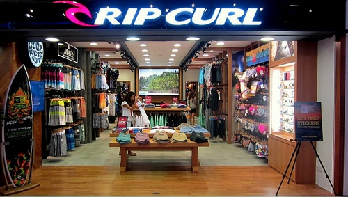 Rip Curl shop at nex mall in Singapore.
