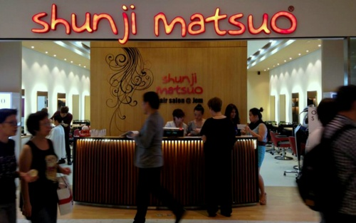 Shunji Matsuo hair salon at Jem mall in Singapore.