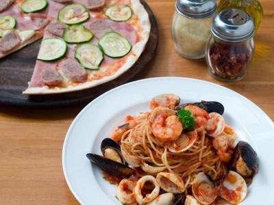 Trattoria Italian Kitchen food in Singapore.