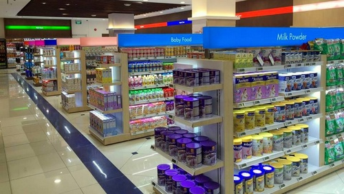 Aisles inside Cold Storage supermarket in Singapore.