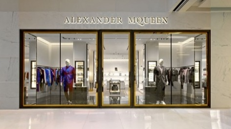 Alexander McQueen store Scotts Square Singapore.