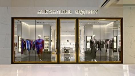 61cf7ba09 Alexander McQueen store Scotts Square Singapore.