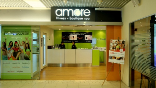 Amore Fitness & Boutique Spa at Heartland Mall in Singapore.