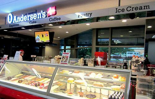 Andersen's of Denmark Ice Cream cafe at nex shopping center in Singapore.