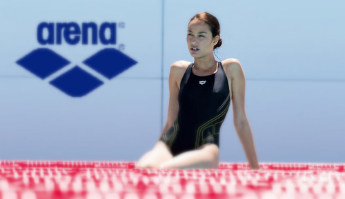 Arena women's swimwear.