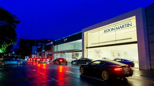 Aston Martin Singapore car dealership in Singapore.