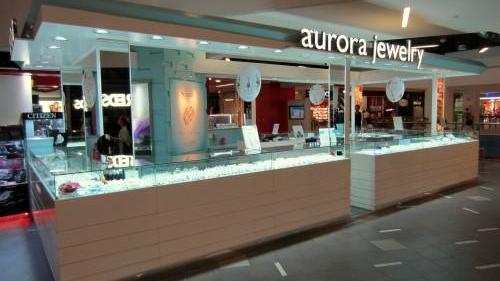 Aurora Jewelry at NEX mall in Singapore.