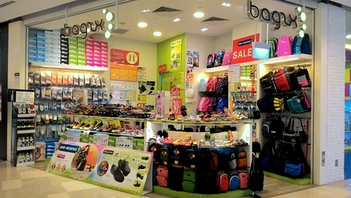 Bagzx bag store at One KM mall in Singapore.