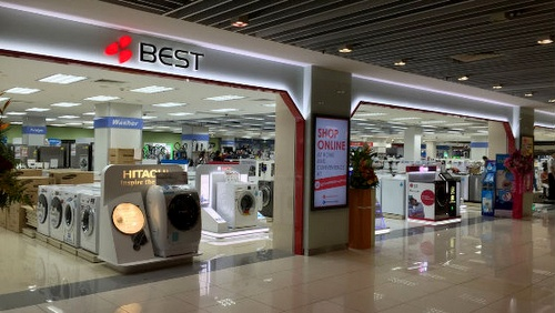 BEST Denki electronics store at IMM shopping centre in Singapore.