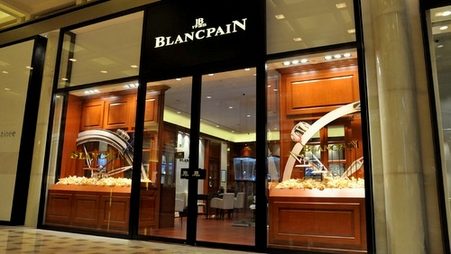 Blancpain watch store Marina Bay Sands Singapore.