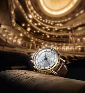 Breguet luxury wristwatch.