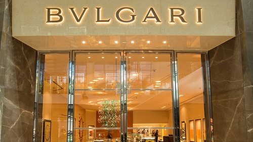 Bulgari jewellery and watch store Marina Bay Sands Singapore.