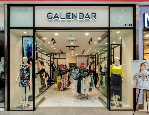 Calendar women's clothing store at AMK Hub in Singapore.