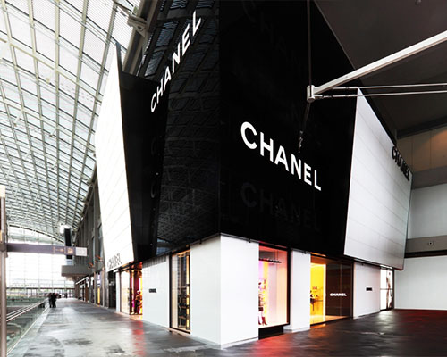 Chanel shop at Marina Bay Sands in Singapore.