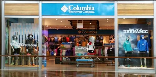 Columbia Sportswear Company store Marina Bay Sands Singapore.