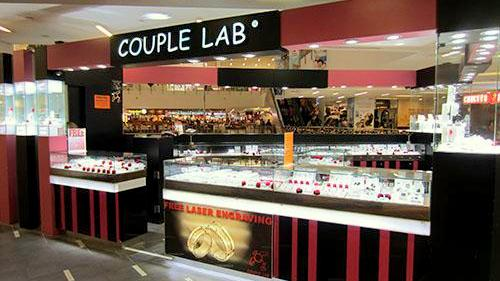 Couple Lab jewellery store at NEX mall in Singapore.