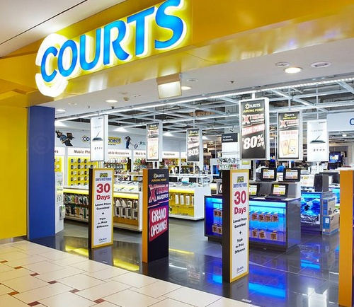 Courts electronics & furniture store at Jurong Point in Singapore.