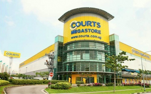 Courts electronics, IT, and furniture Megastore Tampines in Singapore.