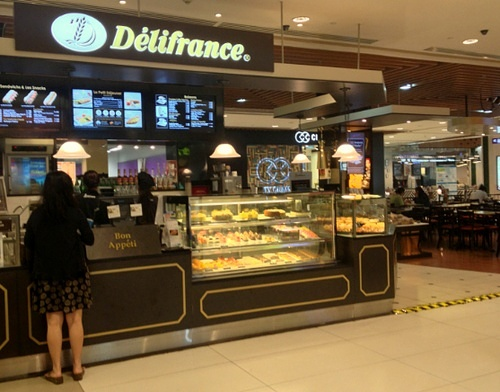 Délifrance French cafe at Tampines Mall in Singapore.