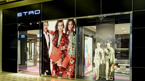 ETRO clothing store Marina Bay Sands Singapore.