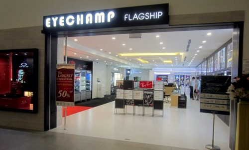 EyeChamp Optometrists flagship store NEX Singapore.