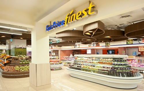 FairPrice Finest supermarket in Singapore.