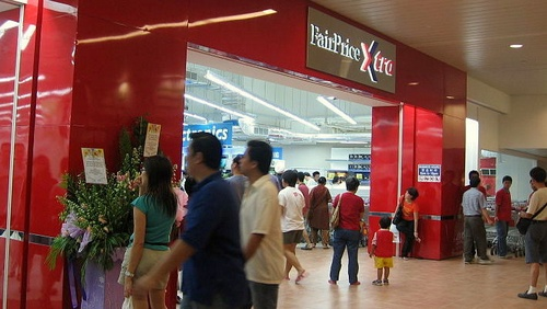 FairPrice Xtra hypermarket at Ang Mo Kio mall in Singapore.
