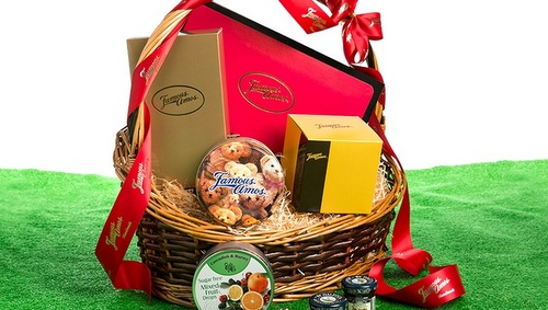 Famous Amos cookie gift hamper.
