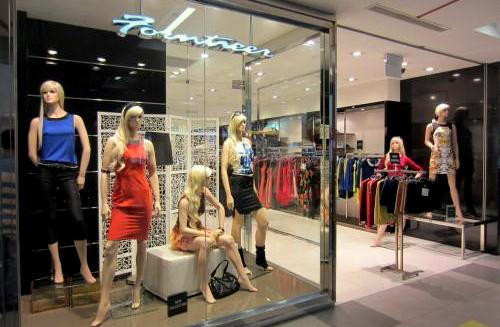 Forntieer clothing store at NEX shopping centre in Singapore.