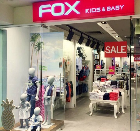 Fox Kids & Baby clothing store in Singapore.