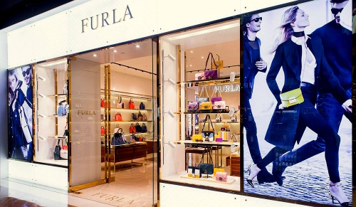 Furla bag & accessories store at Marina Bay Sands in Singapore.