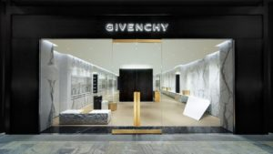 Givenchy store Marina Bay Sands Singapore.