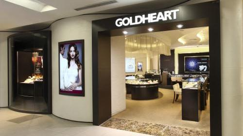 Goldheart jewellery store at NEX shopping centre in Singapore.