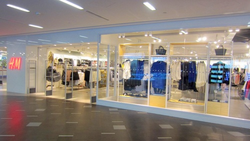 H&M clothing shop at NEX shopping centre in Singapore.