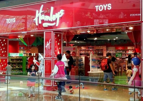 Hamleys of London toy store Marina Bay Sands Singapore.