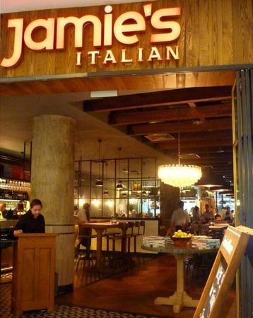 Jamie's Italian restaurant in Singapore.
