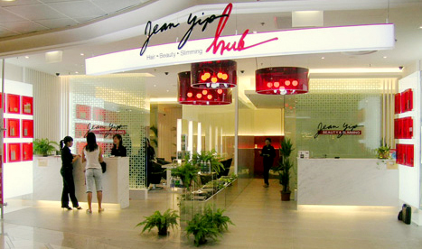Jean Yip Hub beauty salon in Singapore.
