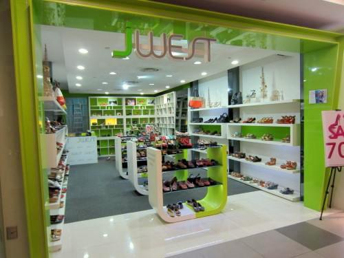 JWest shoe store at NEX mall in Singapore.