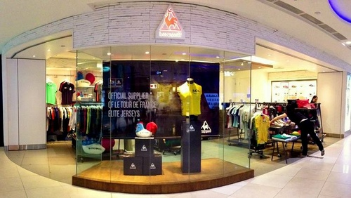 Le Coq Sportif store at Plaza Singapura in Singapore.