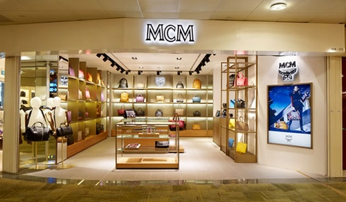 MCM store Changi Airport Singapore.
