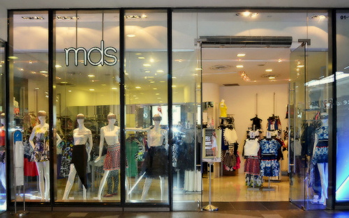 MDS clothing store at Tampines 1 mall in Singapore.
