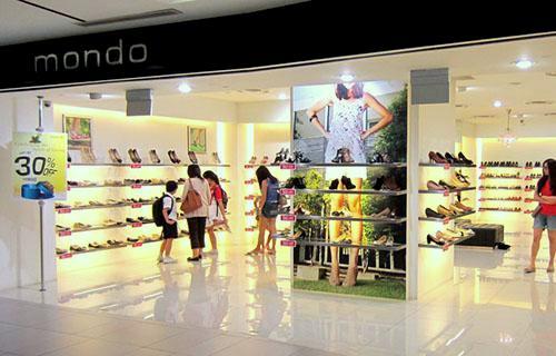 Mondo shoe store NEX Singapore.