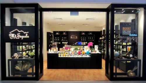 Mt. Sapola cosmetics store at NEX shopping centre in Singapore.