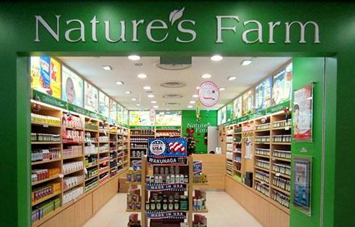 Nature's Farm supplement shop at NEX shopping centre in Singapore.