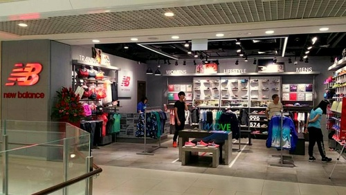 New Balance shoe store at Parkway Parade in Singapore.