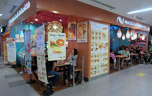 New Zealand Natural Cafe restaurant, located at the nex mall in Singapore.